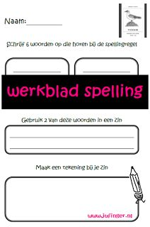 Juf Inger: spelling groep 3-4 Ook leuk tijden een coöperatieve les.