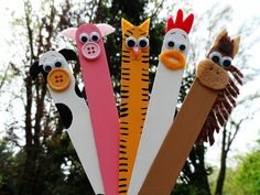 Popsicle stick farm animals, so cute!