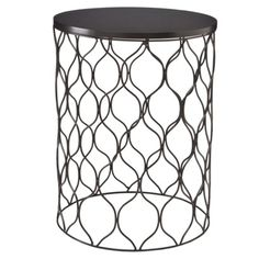 Woven Wire Accent Table