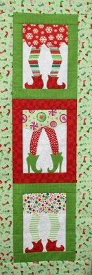 "Which Witch Christmas Elf Wallhanging Pattern from Crazy Old Ladies at Kayewood.com Quilt measures 38"" x 48"" Fun and festive applique quilt/wallhanging. http://www.kayewood.com/item/Which_Witch_Wallhanging_Pattern/2868 $9.00"