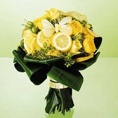 lemon wedding bouquet
