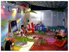 I want to have a playroom like this!