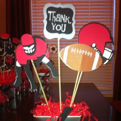 Football Centrepiece using Cricut Sports Mania.