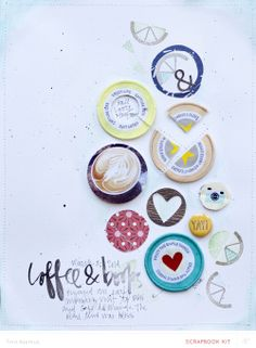 #papercraft #scrapbook #layout coffee & books *MKO by lifelovepaper at @Studio_Calico always, always inspired by tina