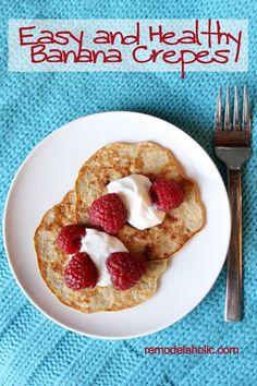 Banana Crepes Recipe from remodelaholic.com #breakfast #recipe