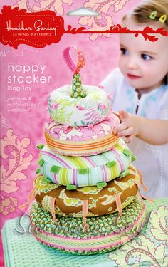 Happy Stacker Ring Toy ~ Heather Bailey Sewing Pattern