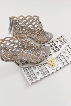 The perfect silver clutch from @marshalls.