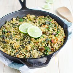 Healthy spinach rice