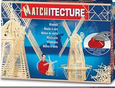 This Matchitecture Windmill matchstick model kit includes everything needed to make this matchstick model kit.  Included are all the pre-cut card formers along with the glue, matchticks and full instructions.    These instructions will guide you through each stage of the construction until you finally achieve the finished product. We would highly recommend this Matchitecture Windmill aircraft matchstick model Kit.