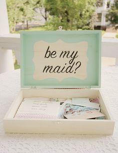 """""""Be my bridesmaid"""" box"""