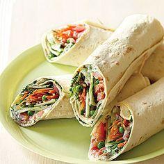 Fast & Fresh brown-bag lunches | Mediterranean Garden Wraps | Sunset.com