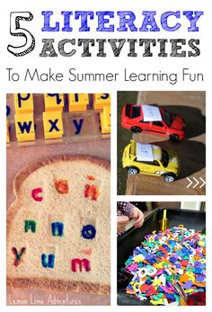 5 Hands On Literacy Activities for Summer Fun | Avoid the summer slide #summer