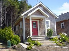 Seabrook Tiny Cottage in Washington state - available to rent. I love the interior of this small home.