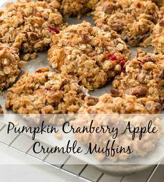 Pumpkin Cranberry Apple Crumble Mufffins