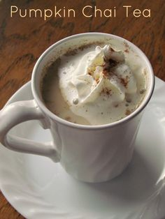 Pumpkin Chai Tea from Rustic Living. Try it with Bhakti for a delicious twist!