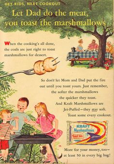 A charming vintage marshmallow ad.