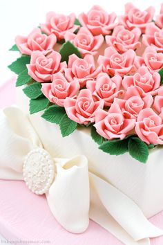 Amazing pink roses - too pretty to eat.