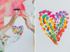 finger paint heart