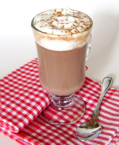 Adult Hot Chocolate Made with Nutella and Fortified Spirits