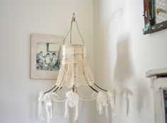 Lamp shade, lace, ribbon, crystals....coming to the September Vintage Marketplace at the Oaks.