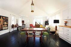 cottag kitchen, interior design, mismatch chair, cottage interiors, design interiors, cottag interior, cottages, hous, modern cottage
