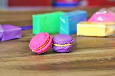 DIY Macaron Erasers