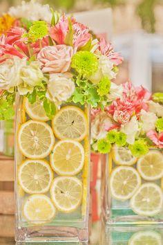 pink lemonade centerpiece