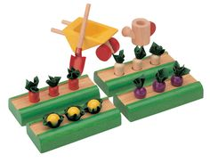 Moolka wooden vegetable garden toy