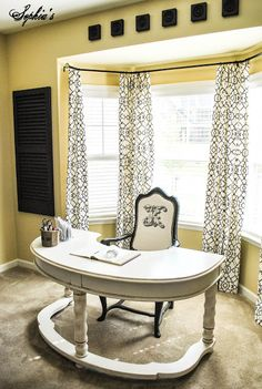 DIY:: Budget Craft Room /Office Makeover ! This is Stunning ! There was not one photo to capture all the details & Beauty ! Have To See ! And Has All the Great #DIY Details