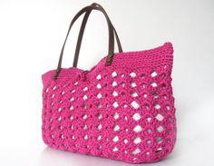 fuchsia summer bag Handbag Celebrity Style With by Sudrishta, $55.00
