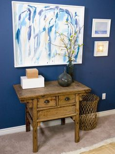 Indigo Walls Are Bold Bold and Soothing (http://blog.hgtv.com/design/2014/05/02/hgtv-may-2014-color-of-the-month-indigo/?soc=Pinterest)