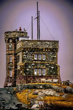 Cabot Tower located on Signal Hill, St. John's Newfoundland. By Gord Follett