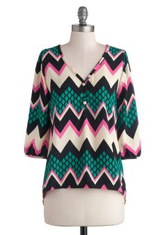 Bright Bryce Canyon Top from Modcloth. Me likey.
