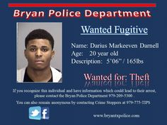 Wanted Darius Darnell Posted Oct 2014