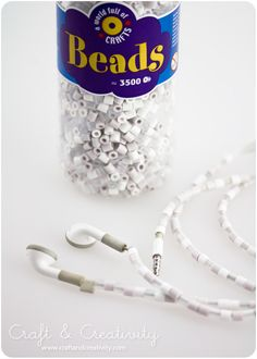 Use beads on your headphone cords to stop tangling.