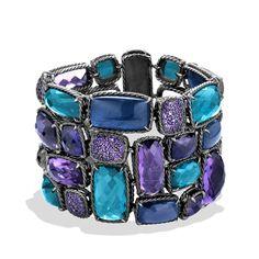 blue topaz, chatelain bracelet, hampton blue