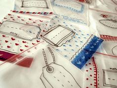 illustrated baggies - so cute and clever