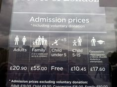 Another example of the perils of incorrect punctuation. Apparently only disabled students are entitled to the discounted rate at the Tower of London.