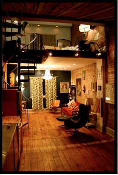 Amazing Loft Apartment, i MUST live in one someday!