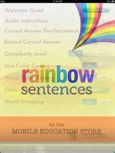 Speech Time Fun: Rainbow Sentences Giveaway!!