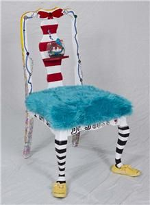 craft, whimsical painted chairs, stuff, antique chairs, classroom chair, kids story chairs, painted chairs ideas, dr. seuss classroom ideas, decor idea