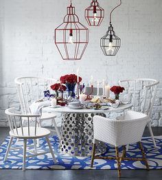 pendant lamps, design homes, color combo, area rugs, dining chairs, paola navon, crate, barrel, side chairs