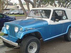 Blue Jeepster Commando - San Diego, CA - August 2005.
