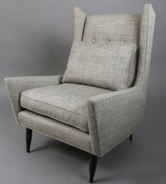 mid-century wing back chair