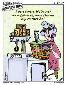 On ironing......