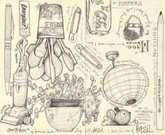 Andrea Joseph - lots of gorgeous sketches