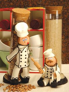 funny comments, clays, cake, fondant chef, plastic