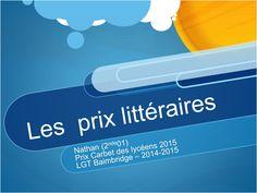 Prix littéraires '14