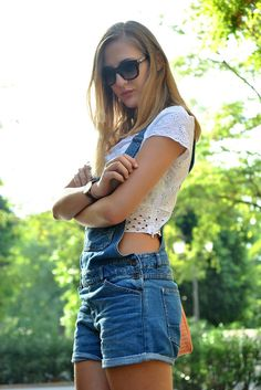White Crop Top by Dear Diary: pretty sure I need some overalls!