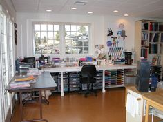 This is the ultimate work room I want at home. craft room paper area